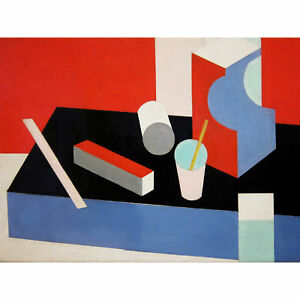Bruce Cubist Painting Large Canvas Wall Art Print