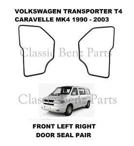 Volkswagen Transporter / Caravelle T4 1990 - 2003 Front Door Rubber Seals Pair