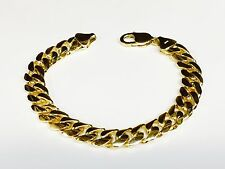"10k Solid Gold Handmade Miami Cuban Curb Link mens Bracelet 8.5"" 47 grams 10.5MM"