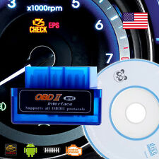 Mini Blue OBD2 / OBDII wireless Bluetooth Car  Diagnostic Code Reader Scanner US