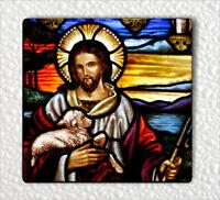 """JESUS CHRIST & LAMB SHEPHERD RELIGION FRIDGE MAGNET 3"""" x 3""""-ksw3Z"""