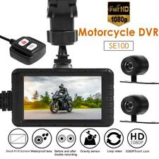 """SE100 FHD 1080p Motorcycle DVR Dash Cam 3.0"""" Front+Rear View Motorcycle Camera"""