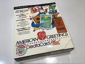 American Greetings CREATA CARD Plus!, PC Windows Software maker creator Big Box