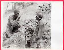 1943 PFC Doherty of Houston TX Samples Coffee Sicily Italy Original News Photo
