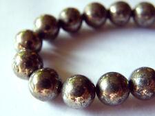 50pcs 8mm Round Natural Gemstone Beads - Chalcopyrite