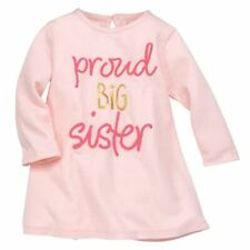 "NWT MUD PIE GIRLS ""PROUD BIG SISTER"" LONG SLEEVED T-SHIRT SZ SMALL 12-18 MONTHS"