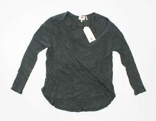 ONE CLOTHING JUNIORS S THERMAL Pullover Shirt CHARCOAL Rounded Hem Grey