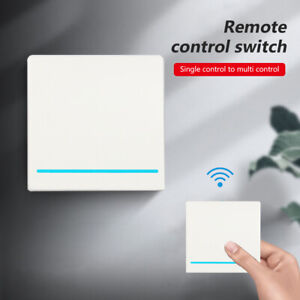 wireless light switch 100m remote wall mounted smart home gadget with receiver