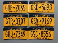 ONE NEW YORK  EMPIRE STATE LICENSE PLATE RANDOM LETTERS/NUMBERS FREE SHIPPING!!!