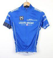 SMS Santini La Gazzetta Dello Sport Mens 2015 Blue Cycling Jersey Top - S