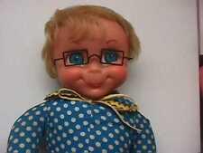 Vintage 1967 Mattel Family Affair Mrs Beasley Doll She Talks! Apron & Collar