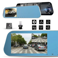 3.5inch HD Dual Lens Car DVR Dash Cam Front&Rear Mirror Camera Video Recorder