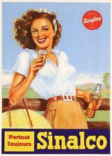 ON LINEN Original Vintage Sinalco Cola Poster Vintage Coca Cola Collectable