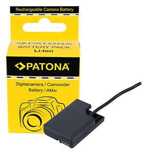 EN-EL14 Dummy Batterie Coupler D-TAP Input Akku-Adapter f. Nikon EN-EL14a Patona