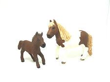 U30) Schleich 2 Ponys Pons Shetland Stute und Fohlen Schleichtier Pferd