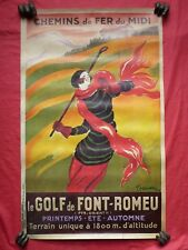 affiche poster repro CAPPIELLO chemin de fer du midi golf de FONT ROMEU 495x795