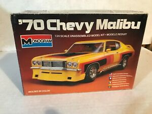 VINTAGE MONOGRAM 1/24 SCALE 1970 CHEVY MALIBU MODEL KIT