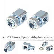 2x Modified M18x1.5 Exhaust 90-Degree O2 Oxygen Sensor Extender Spacer Adapter