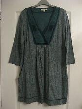 WHITE STUFF Green Tunic Top Dress Size 14