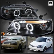 2004-2006 Chevy Aveo Sedan Aveo5 LED Projector Headlights Black