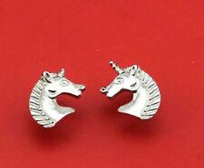 SILVER UNICORN, HORSE STUD EARRINGS