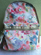 New $98 LeSportsac Waterlily Garden Basic Backpack With Pouch Pink