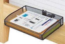 Dorm Room Mesh Black Clip On Mount Bunk Bed Desk Storage Side Shelf Night Stand