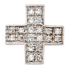 Religiöse Halsketten und Anhänger aus Weißgold mit Diamanten