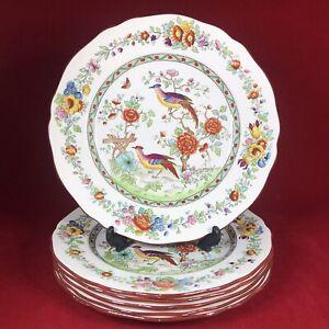 "Copeland Spode — 5813 Asiatic Pheasant — 6x 9"" Salad / Luncheon Plates — c.1907"