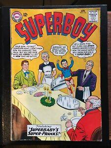 Superboy #112 Apr 1964 - Superbaby's Super-Pranks