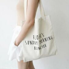 Women's Heavy Duty 100% Natural Cotton Shoulder Shopping Canvas Tote Hand Bags