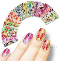 50 Sheets Nail Art Stickers Tips Water Decals Flower  Sticker Nails Tips