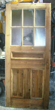 "SET of 20 Pitch Pine half glazed panel wooden doors 35"" x 83"" approx"