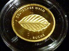 """#5840# (M269-D) Deutschland - Goldmünze 1/8 Unze - 20 Euro - """"Buche"""" - 2011 -F-"""