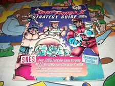 Street Fighter II Strategy Player's Guide Players Super Nintendo SNES 2 RARE