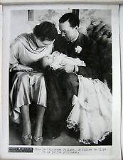 PHOTO PARIS SOIR 1938 LA PRINCESSE JULIANA REINE DE HOLLANDE NAISSANCE BEATRIX