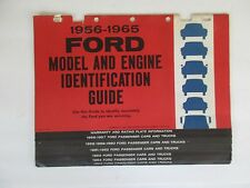 Vintage 1956-1965 Ford Model and Engine Identification Guide Copyright 1964