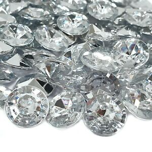 SILVER DIAMANTE SCATTER CRYSTALS Confetti Diamond Gems Beads Wedding Table Party
