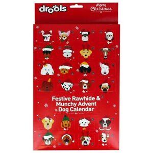 Christmas Festive Rawhide & Munchy Advent Treat Calendar for Dogs & Puppies
