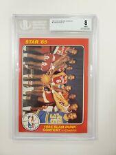 1984-85 Star Slam Dunk Supers 5X7 #1 Group Photo CL Michael Jordan RC BGS 8 RARE