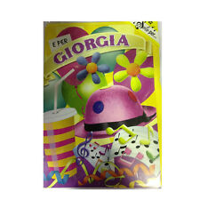 Tarjeta de cumpleaños musical genérico canta nome GIORGIA y FELIZ En TE