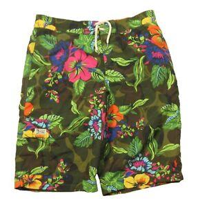 NWOT Polo Ralph Lauren Boys Hibiscus Floral Graphic Swim Trunks