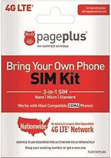 Page Plus VERIZON 4G  3 IN 1 FITS ALL PHONES NANO DUAL SAME DAY SHIP +SIM Tool