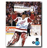 Dominik Hasek Detroit Red Wings Autographed Stanley Cup 8x10 Photo