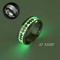 schmuck mode leuchtende band ring im dunkeln leuchten batman - punk edelstahl
