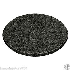Round Chopping Board Black Speckled Granite Circular Top Kitchen Food Prepration