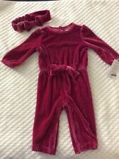 Girls' 6 Month Hot Pink Velour One Piece Outfit by Carter's NEW WITH TAGS!