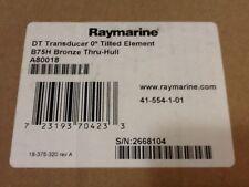 RAYMARINE A80018 B7H BRONZE THRU HULL 0 DEGREE TILTED ELEMENT TRANSDUCER