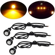 3x Universal Fit Amber LED Bulb With Screw Grille Light Kit For Car Truck SUV RV
