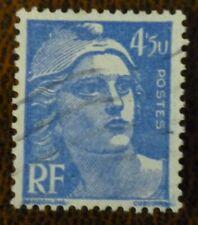 FRANCE 1947 Marianne 4fr 50 blue, 5U  flaw for 50.  SG 1002